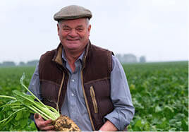 Farmer with beet crop